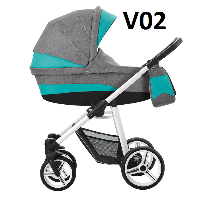 VULCANO 2021 dwa kolory stelaża ( gondola+spacerówka ) + dodatki BEBETTO