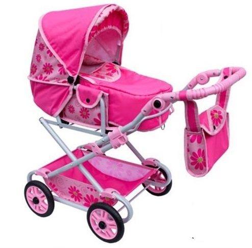 wózek lalkowy DUŻY ( dla lalek) głęboko-spacerowy-JAK PRAWDZIWY RÓŻOWY