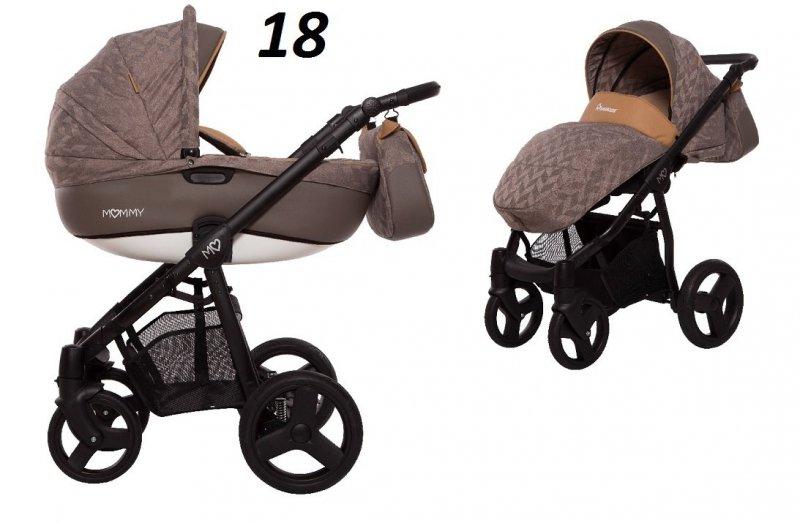 Mommy SUMMER  wózek wielofunkcyjny ( gondola+spacerówka+fotelik KITE ) babyactive
