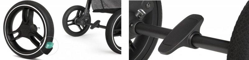 wózek spacerowy  GRANDE LX wszystkie  koła żelowe Kinderkraft kolor CZARNY BLACK