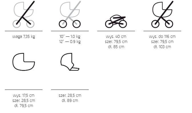 2020 wózek bliżniaczy DUO JEDO  (2 gondole+2 spacerówki+2 foteliki KITE) JEDO
