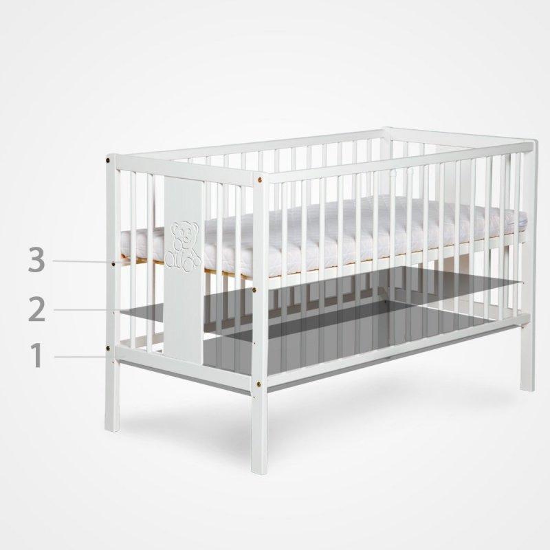 Łóżeczko SOFIE BUK  120x60 KLUPŚ