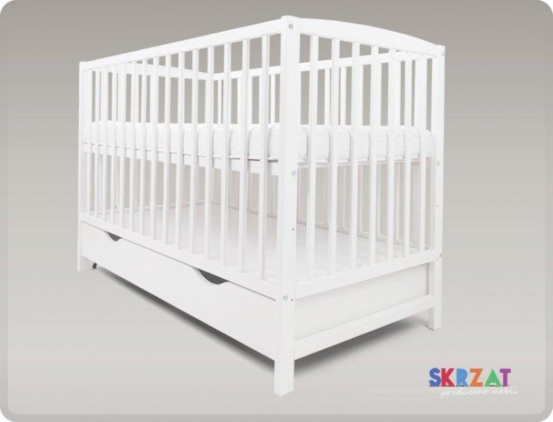 łóżeczko kolor bialy  ARCO  120/60 cm + szuflada