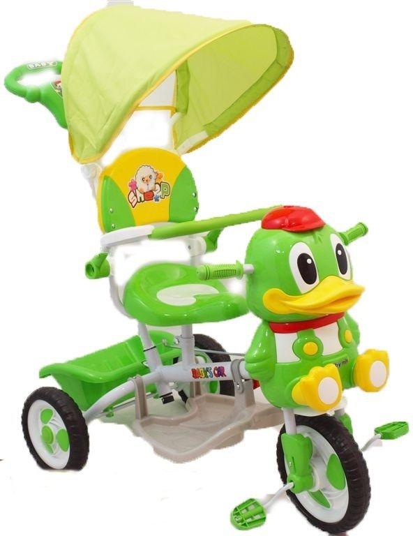 Rowerek trójkołowy Kaczorek ZIELONY BABY MIX