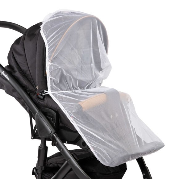 biała moskitiera do wózka  CARETERO ( na wózek głeboki i spacerowy)