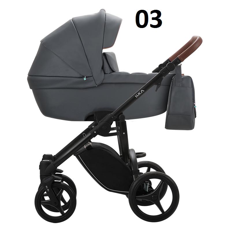 wózek LUCA PRO EKO-SKÓRA nowość zestaw 3w1 BEBETTO