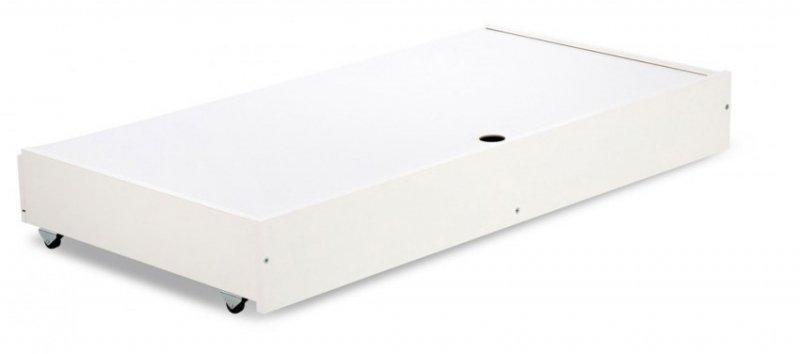 Łóżeczko Nel Serce biały-popiel 120x60 firmy klupś ( opcja szuflada)