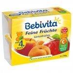 Bebivita owoce z ogrodu Jabłko Morela Brzoskwinia 4m 4x100g