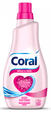 Coral Wolle Seide żel do prania Wełny Jedwabiu 22p
