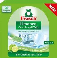 Frosch Naturalne Tabletki do Zmywarki Limonka DE