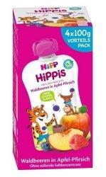 Hipp Hippis 100% Owocow Owoce Leśne Jabłko Brzoskwinia 4x100