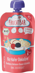 FruchtBar Bio Owsianka w Tubce z Mleczkiem Kokosowym Owoce