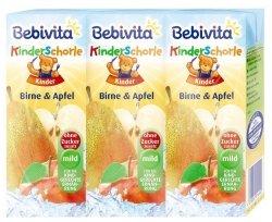 Bebivita soczek Gruszka Jabłko sok ze słomką 3szt