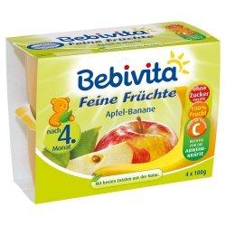 Bebivita mus Jabłko Banan 4x100g 4m Wit C