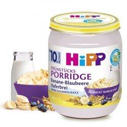 HIPP BIO Porridge Owsianka na Mleku Banan Jagody 10m