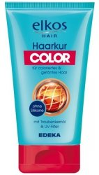 Elkos maseczka do włosów farbowanych Filrt UV
