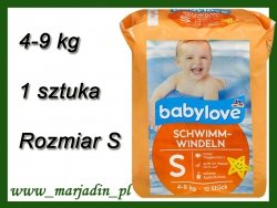 Babylove Pieluszka do pływania na Basen 4-9kg 1 sztuka