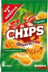 GG Ziemniaczane Karbowane Chipy Paprykowe 200g.