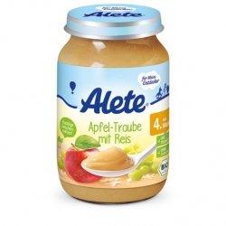 Alete BIO deser Jabłko Winogron Ryż 4m 190g