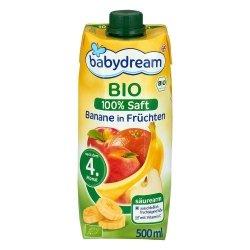 Babydream Bio 100% Sok Banan Owoce 4m 500ml