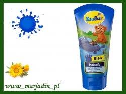 SauBar Mydełko Farbujące dla dzieci Niebieskie 75 ml