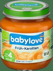 Babylove Bio Przecier Puree Młoda Marchew 4m 125g