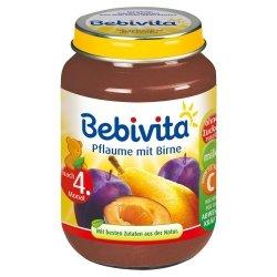 Bebivita Gruszka Świeża Śliwka 190g 4m Wit C