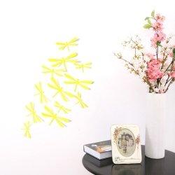 Waszki MOTYLE 3D ŚCIANĘ PVC 12 MONTAŻ Żółte Dekoracja
