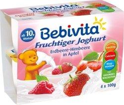 Bebivita Jogurt Truskawka Malina Jabłko 4x100g 10m
