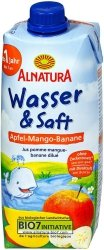 Alnatura Bio Sok Jabłko Mango Banan Woda Mineralna 500