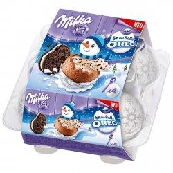 Milka Snowballs 4 Kule krem Puszysty Krem Oreo 2 łyżeczki