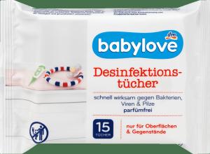 Babylove Chusteczki Dezynfekujące HIV HBV Rota Vaccinia Medyczne 15szt