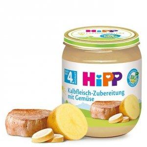Hipp Bio Cielęcina Pasternak Ziemniaczki 4m