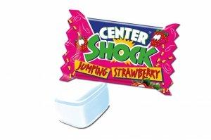 Center Shock Strawberry Mega Kwaśne guma Balonowa 1 szt