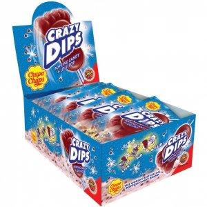 Chupa Chups Crazy Dips Cola Lizak Trzaskający 24x14gg