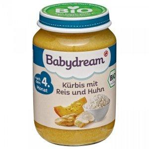 BabyDream Bio Dynia Ryż Kurczak 4m 190g