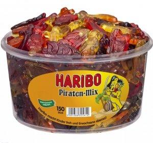 Haribo Owocowe Żelki Piraten Mix Krztałtów 150szt 1200g