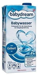 BabyDream Woda źródlana dla niemowląt od urodzenia 1L