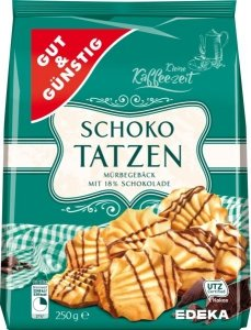 GG Kruche Ciastka Tatzen polewa czekoladowa 250g