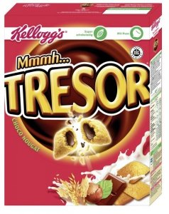 Kellogg's Tresor Poduszeczki Choko Nougat Do Mleka 375