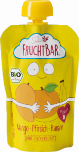 FruchtBar Bio Wegański mus Mango Brzoskwinia Banan