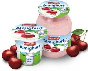 Ehrmann Almighurt Jogurt Wiśniowy Słoik