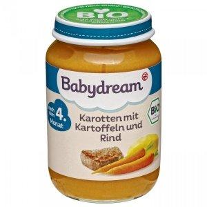 BabyDream Bio Marchewka Ziemniaki Wołowina 4m 190g