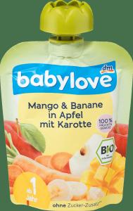 Babylove mus Mango Banan Jabłko Marchew 1r 90g