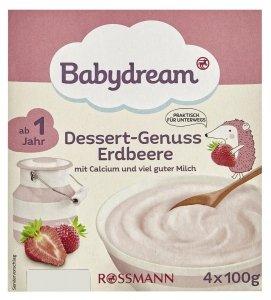 BabyDream Deser mleczny z Truskawkami 1r 4x100g