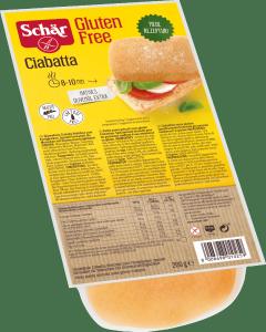 Schar Ciabatta 4x50g Bez Glutenu Laktozy 200g