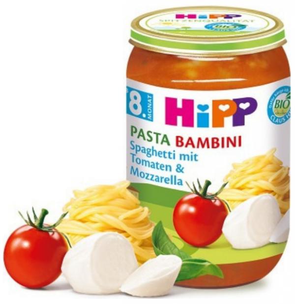 hipp-bio-spaghetti-pomidory-mozzarella-8m-220g-obiadek