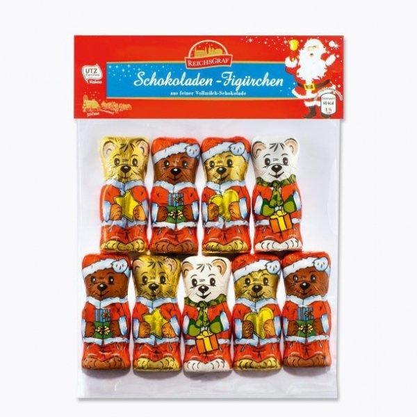 Czekoladowe figurki świąteczne misie 100 gr