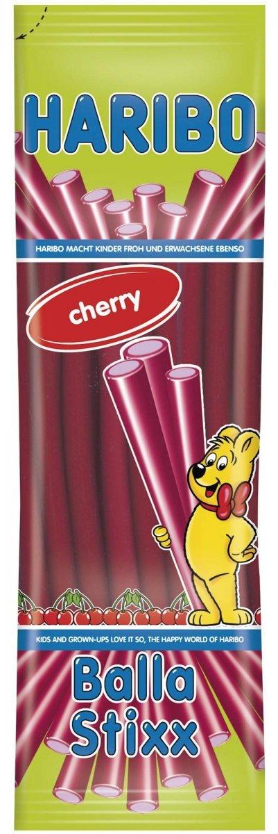 Haribo żelki kable Balla Stixx Wiśnia 200g Cherry