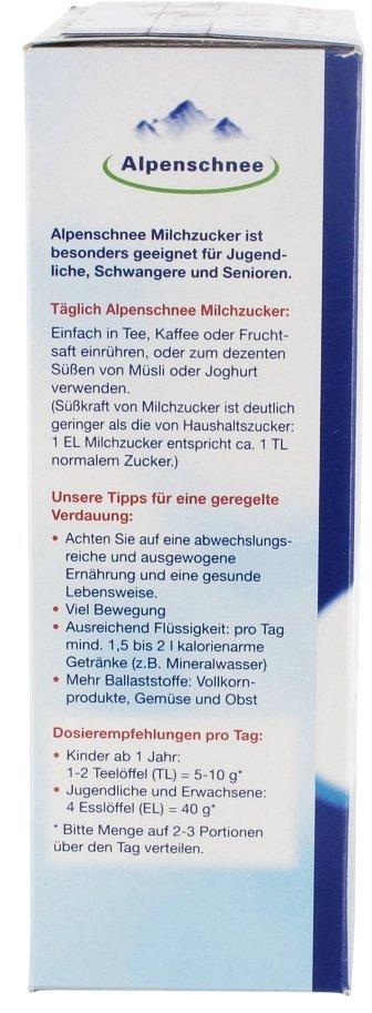 Alpenschnee cukier mleczny dla dzieci laktoza od 1 roku życia